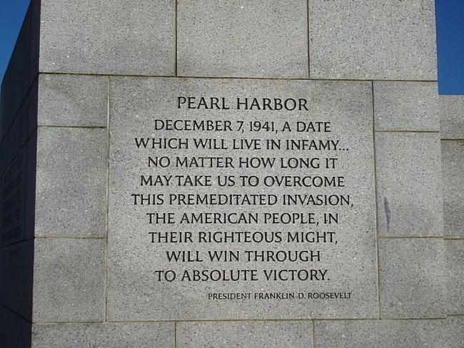 December 8, 1941 Day ofInfamy