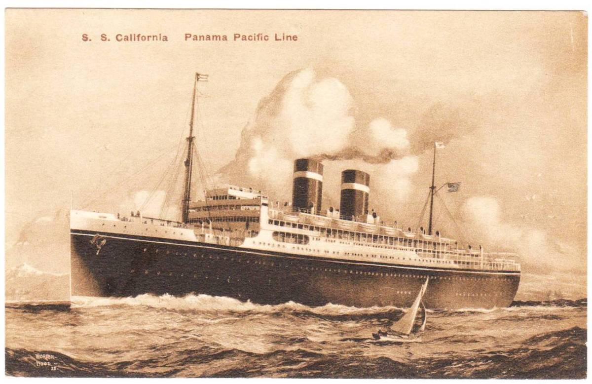 February 7, 1917 SS California