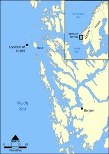 u-864-location