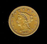 1861 quarter eagle