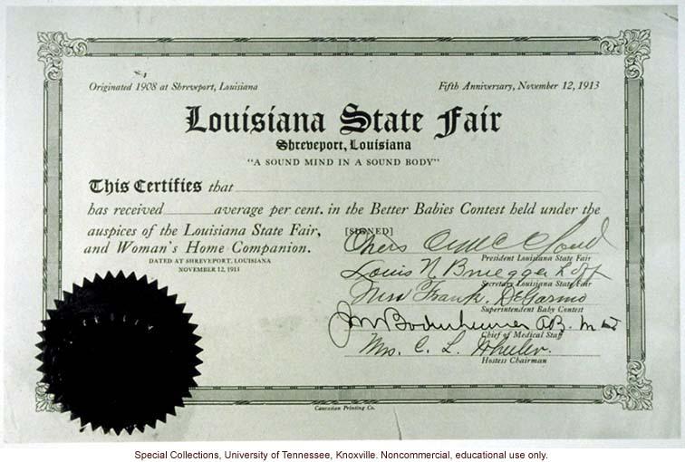 Better babies Certificate
