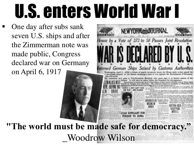 April 6, 1917 Safe forDemocracy