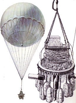 Japanese balloon bomb diagram