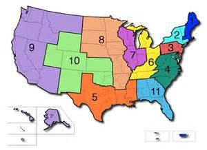 Judicial Districts map