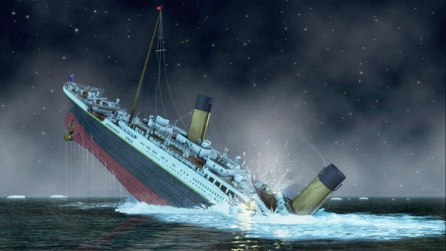 Titanic last moments