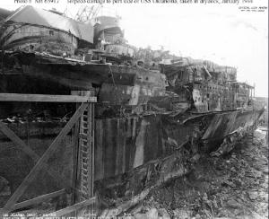 Port side damage