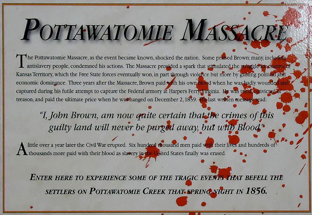 May 24, 1856 – PottawatomieMassacre