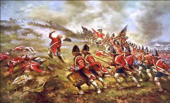 Image result for the battle of bunker hill in 1775 showed
