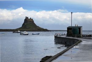 Lindisfarne Castle as seen from Harbour