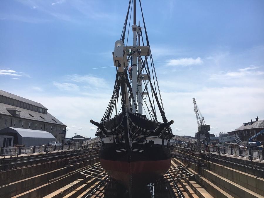 Old Ironsides, Drydock