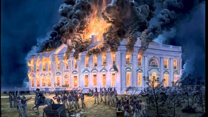 British burn the White House
