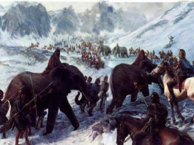 Hannibal crossing the Alps 4