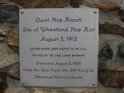 Wheatland Hop Riot