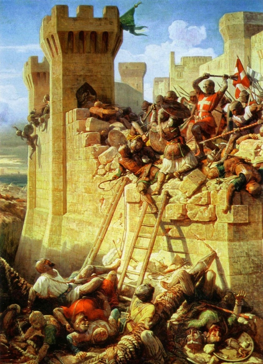 Dominique-Louis-FeÌ-reÌ-ol Papety - The Siege of Acre ca_ 1840