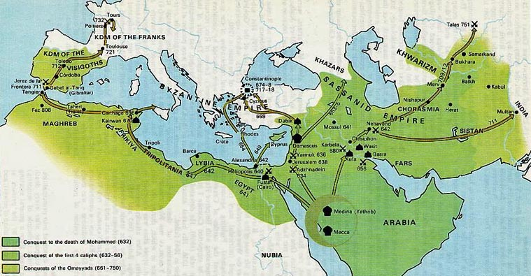 Muslim Conquests, 632-750
