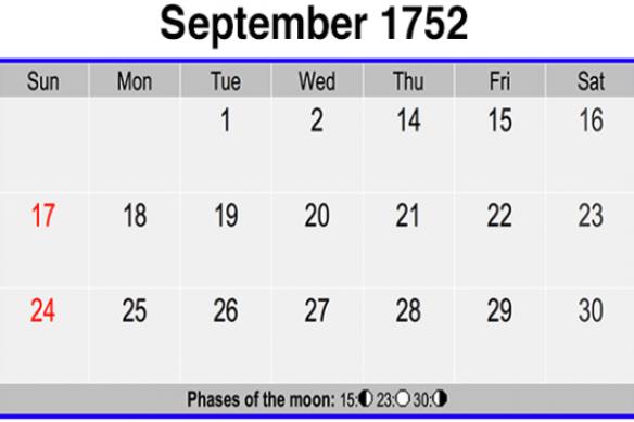 September 3, 1752 The Lostdays