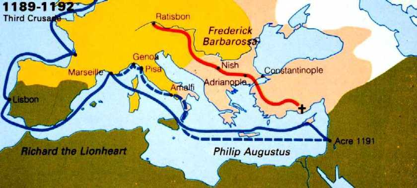 third_crusade_route_map
