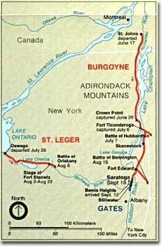 Burgoyne's Route to Saratoga