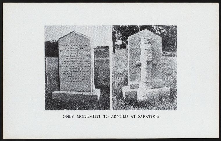 Saratoga Arnold Monument