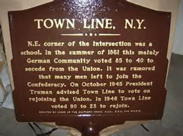 Town Line Marker