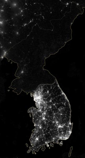 Korea at Night, NASA