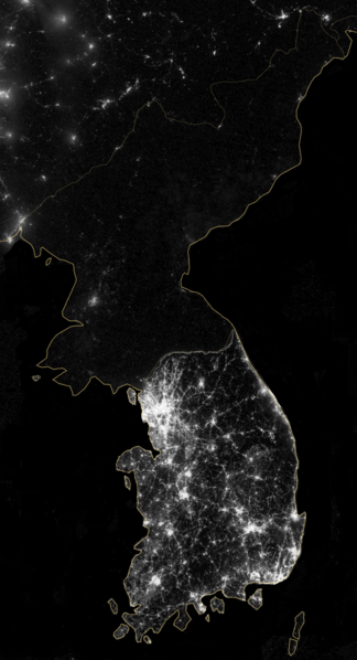 Korea at Night, NASA