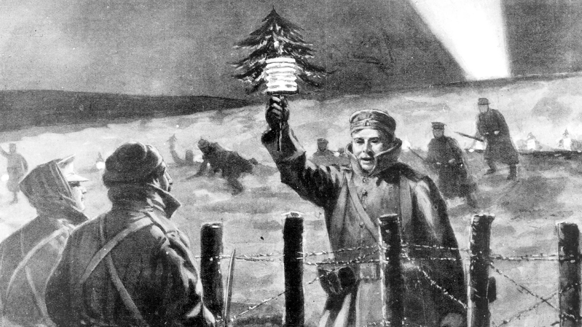 Christmas 1914.December 25 1914 Christmas Truce Today In History