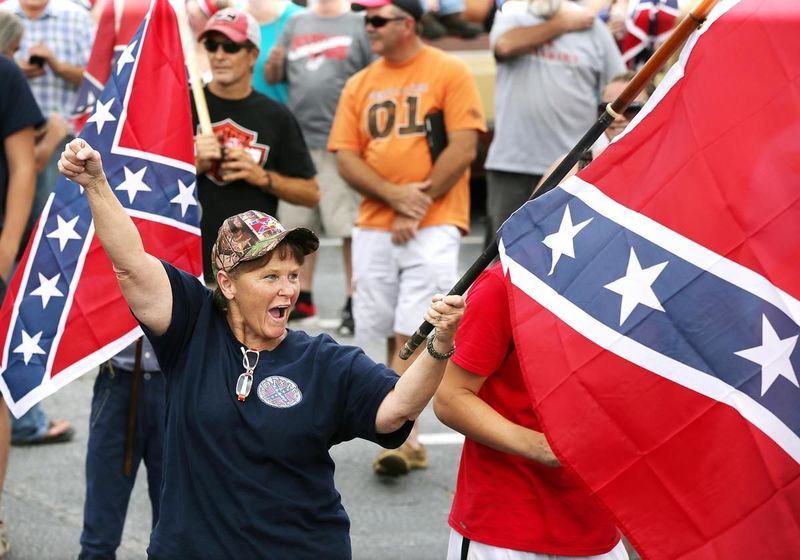 Confederate flag rally at Stone Mountain Park