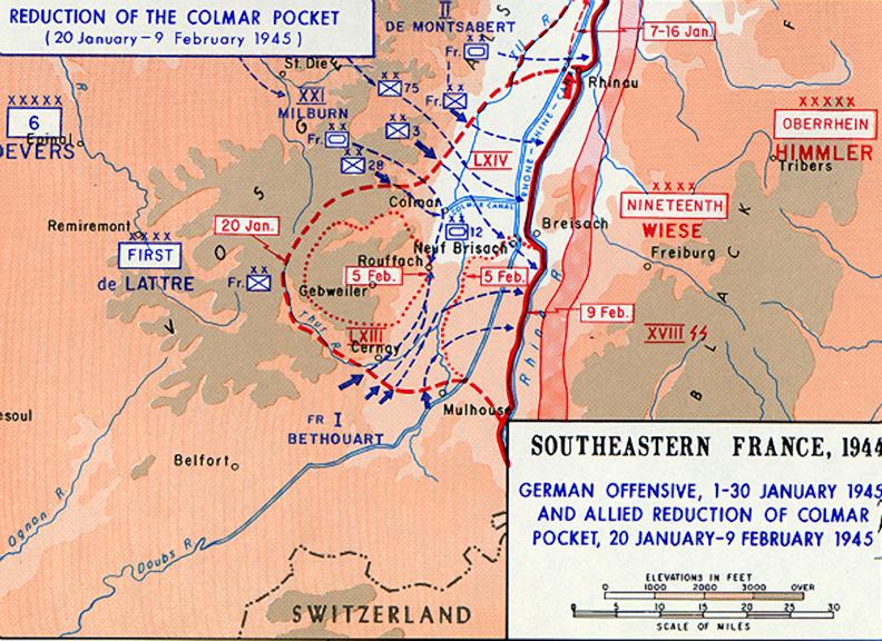 Reduction of Colmar Pocket - January 20, 1945-February 9, 1944