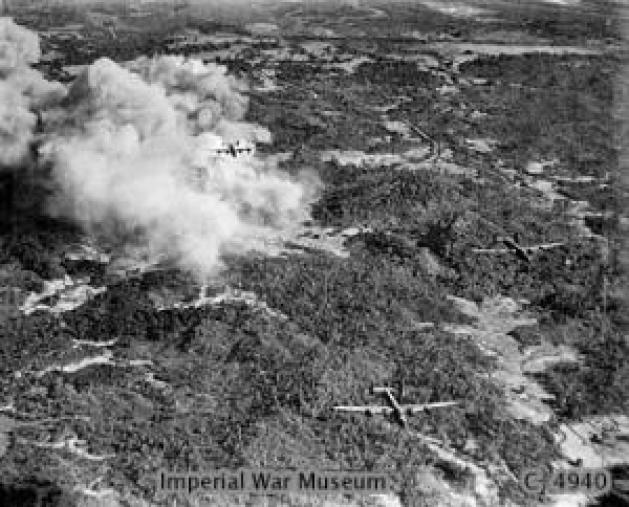 356-Squadron-RAF-after-bombing-Japanese-positions-on-Ramree-Island
