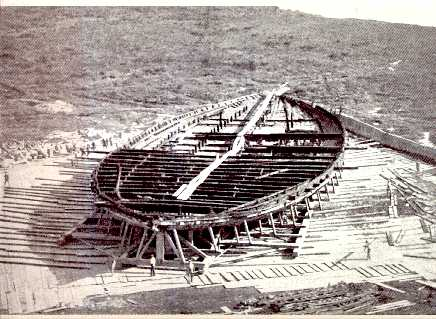 Nemi_Ship_Hull_1930