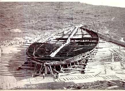 Nemi_Ship_Hull_1930
