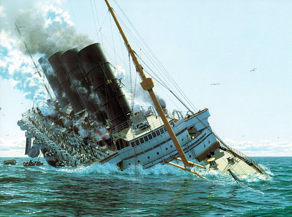 lusitania-sinking-color