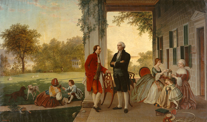 Lafayette and Washington_at_Mount_Vernon,_1784