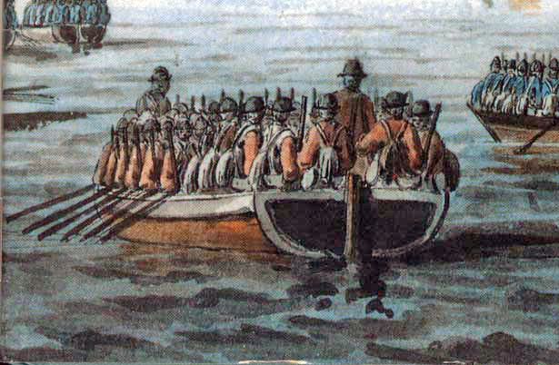 British_flat-bottomed_boat_American_Revolution