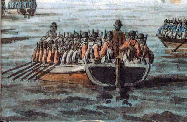 British_flat-bottomed_boat_American_Revolution
