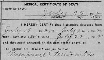 Puerperal Peritonitis 1912 MA