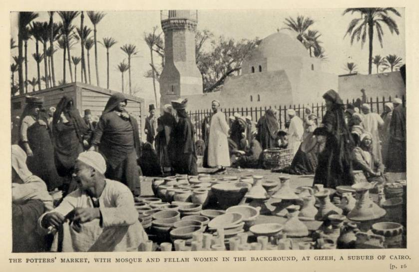 The_potters'_market,_with_Mosque_and_Fellah_Women_in_the_Background,_at_Gizeh,_A_suburb_of_Cairo._(1911)_-_TIMEA
