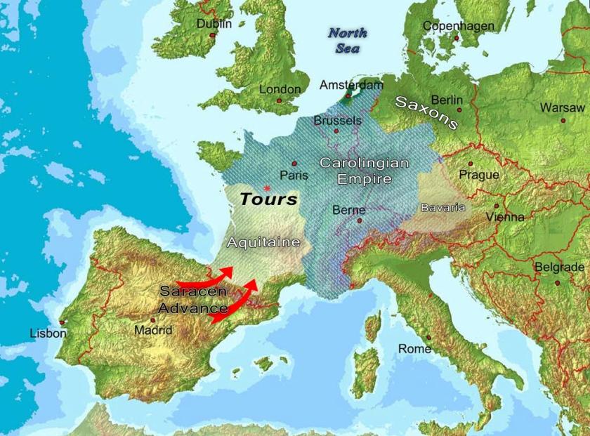 Carolingian Empire Map