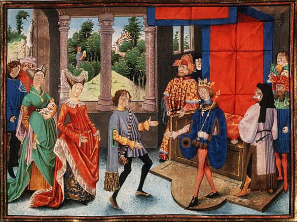 St_Hubert_of_Liège_offers_his_services_to_Pepin_of_Heristal