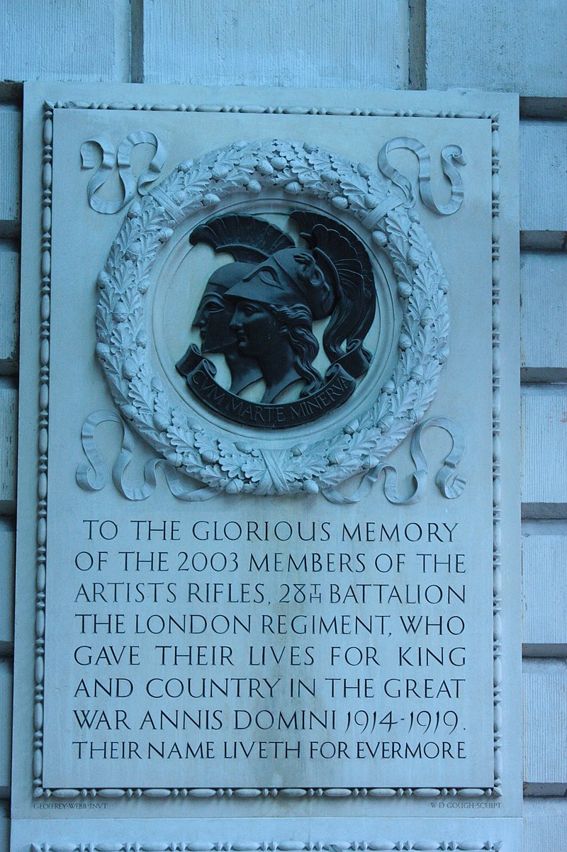 800px-Memorial_to_the_Artists_Rifles,_Royal_Academy,_London