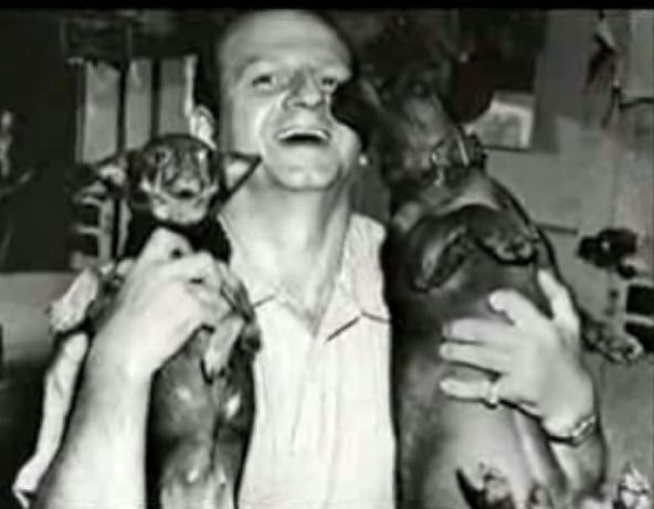 Jack Ruby with dogs