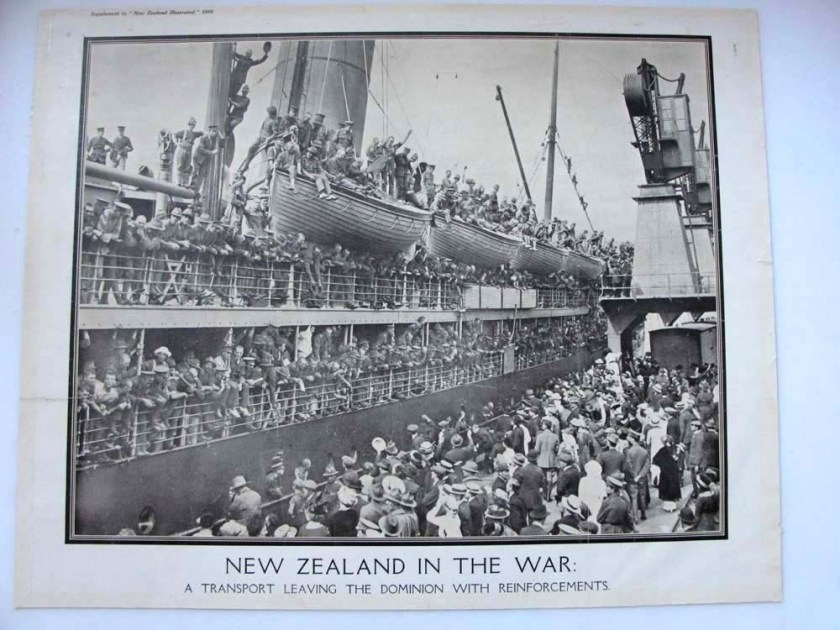 2005.54.4-Ship-leaving-port-in-NZ-with-reinforcements-1916-Supplement-of-the-New-Zealand-illustrated