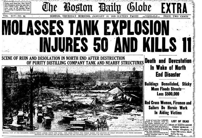 molasses flood, headline