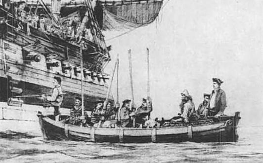 Serkirk_being_taken_aboard_the_Duke