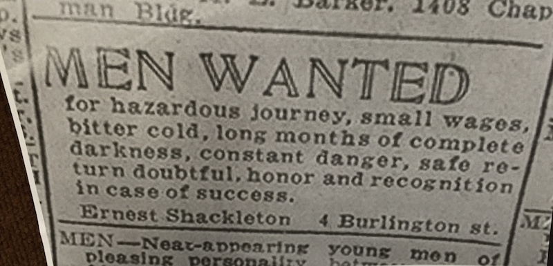 Shackleton advert