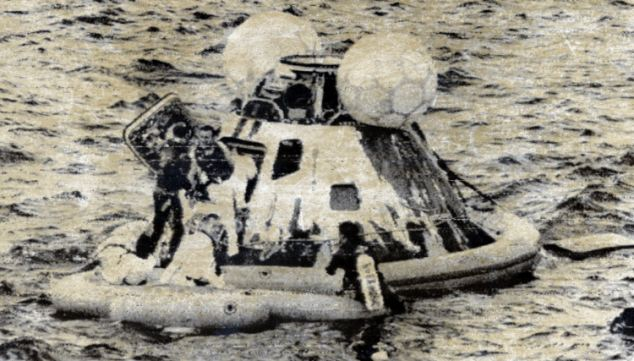 Apollo 13 after it came back to Earth.