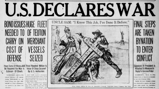 April 6, 1917 US EntersWW1
