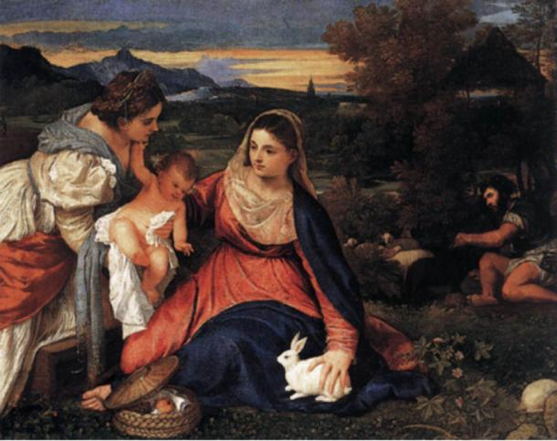 Madonna-of-the-Rabbit-by-Titian