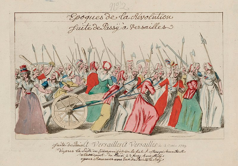 October 5, 1789 The Women's March